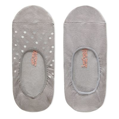 Two+Pair+Invisible+Socks+for+Women+in+Grey