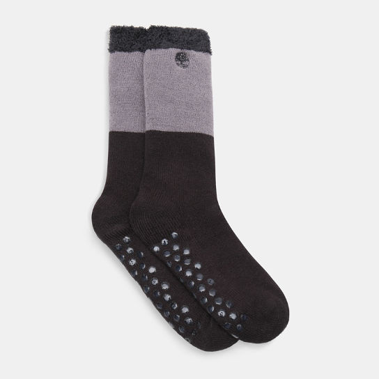 One Pair Gifting Cabin Socks for Men in Black | Timberland