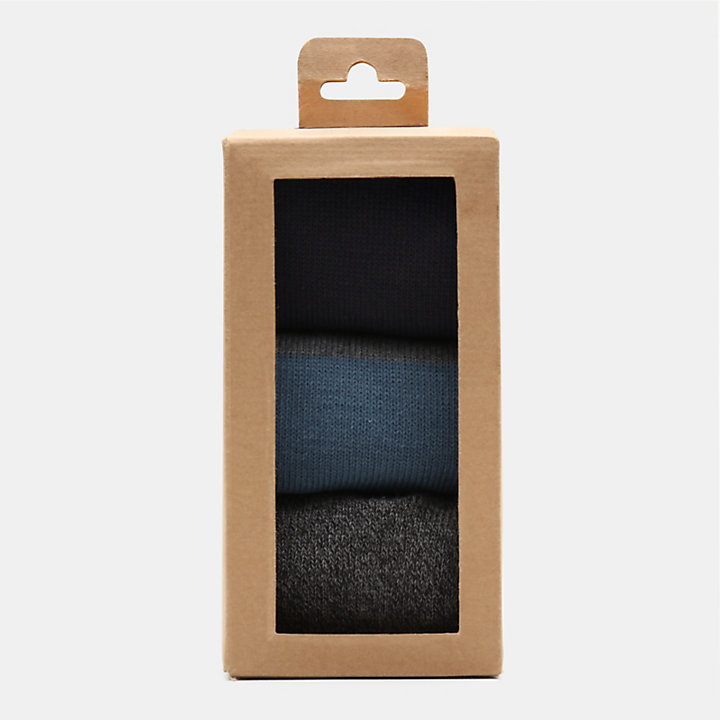 Three Pair Socks Gift Box for Men in Black-