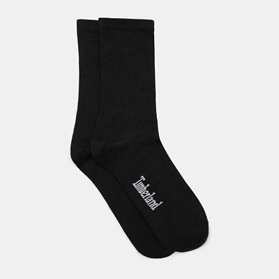 One+Pair%C2%A0Pack%C2%A0Ribbed+Crew+Socks+for+Men%C2%A0in+Black