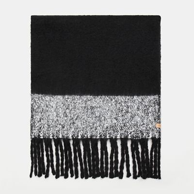 Colour+Block+Blanket+Scarf+for+Women+in+Black
