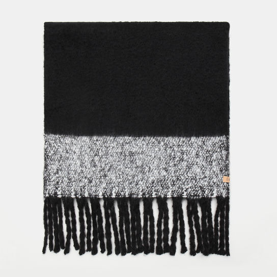 Colour Block Blanket Scarf for Women in Black | Timberland
