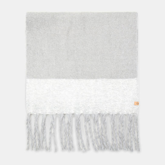 Colour Block Blanket Scarf for Women in Light Grey | Timberland