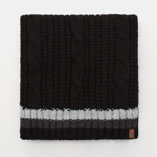 Cable Knitted Scarf for Men in Black | Timberland