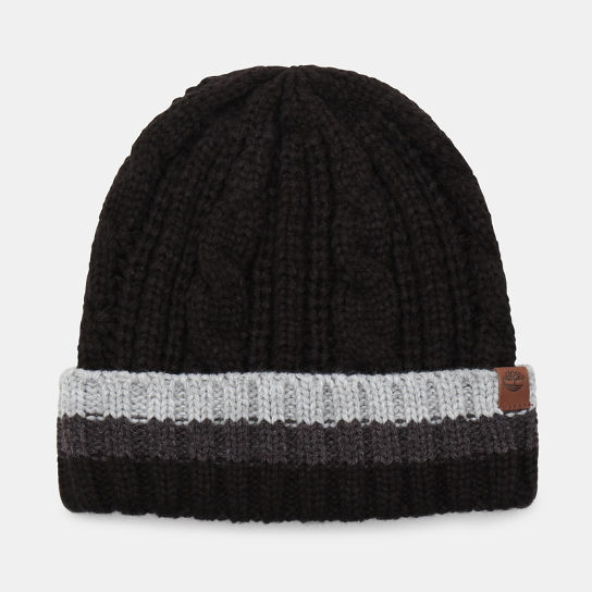 Island Pond Cable Knit Beanie for Men in Black | Timberland