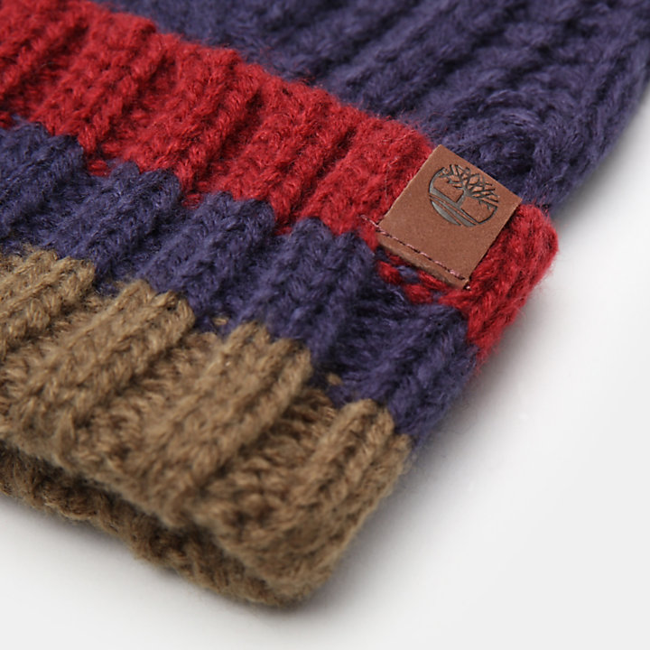 Island Pond Cable Knit Beanie for Men in Navy-