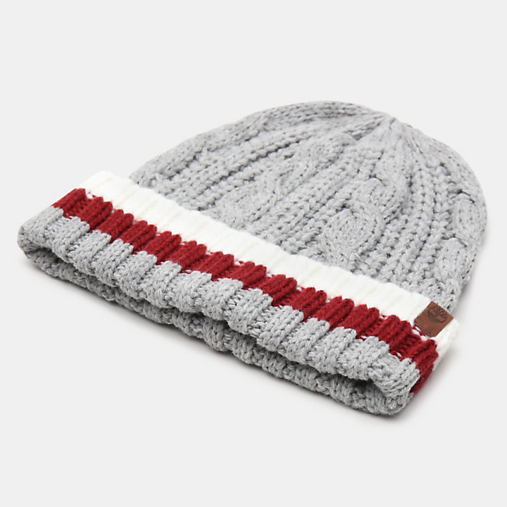 Island Pond Cable Knit Beanie for Men in Grey-