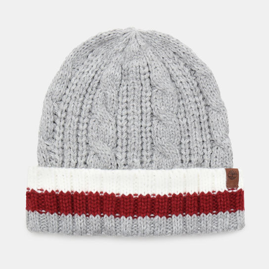 Island Pond Cable Knit Beanie for Men in Grey | Timberland