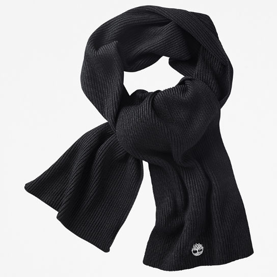 Essential Ribbed Scarf for Men in Black | Timberland