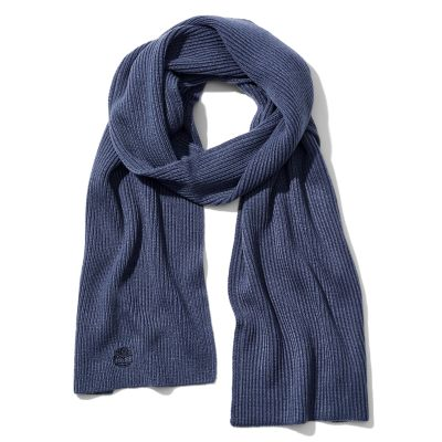 Essential+Ribbed+Scarf+for+Men+in+Navy