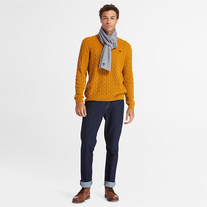 Écharpe côtelée Essential pour homme en gris-