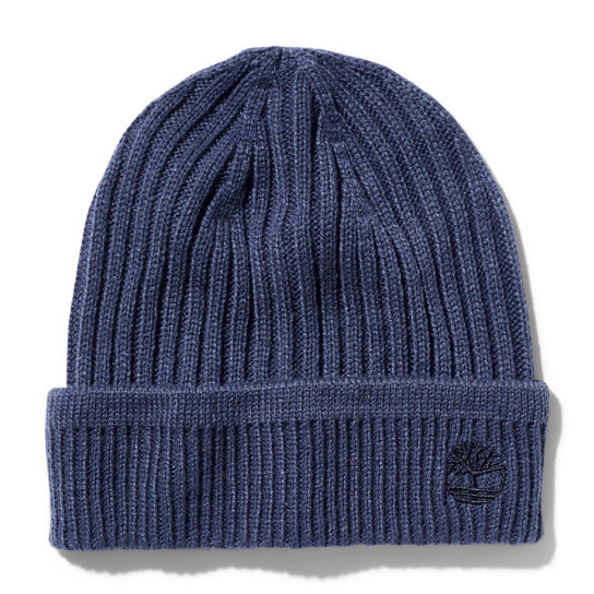 Ribbed Knit Beanie for Men in Navy | Timberland