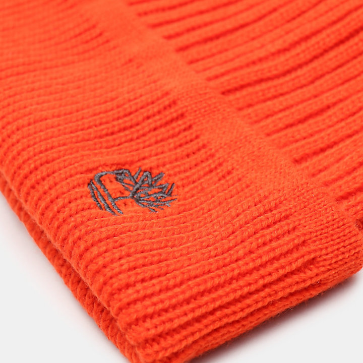 Rippstrickmütze  in Orange-