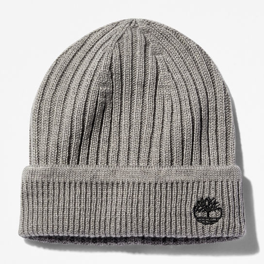 Ribbed Knit Beanie for Men in Grey | Timberland