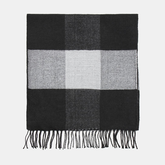 Buffalo Check Scarf for Men in Black | Timberland
