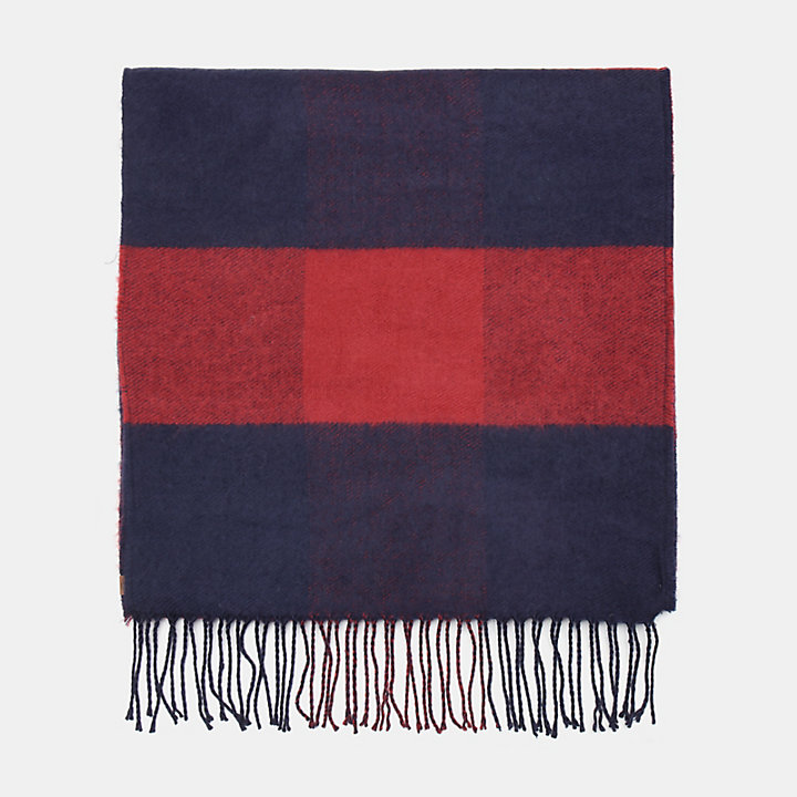 Buffalo Check Scarf for Men in Blue-