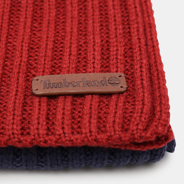 Ribbed Beanie and Scarf Gift Set for Men in Navy-