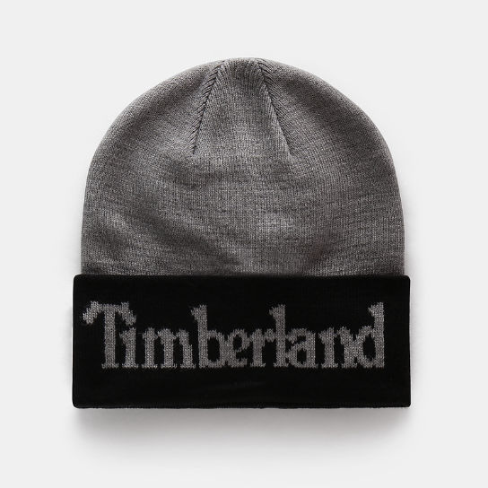 Cuffed Logo Beanie for Men in Grey | Timberland