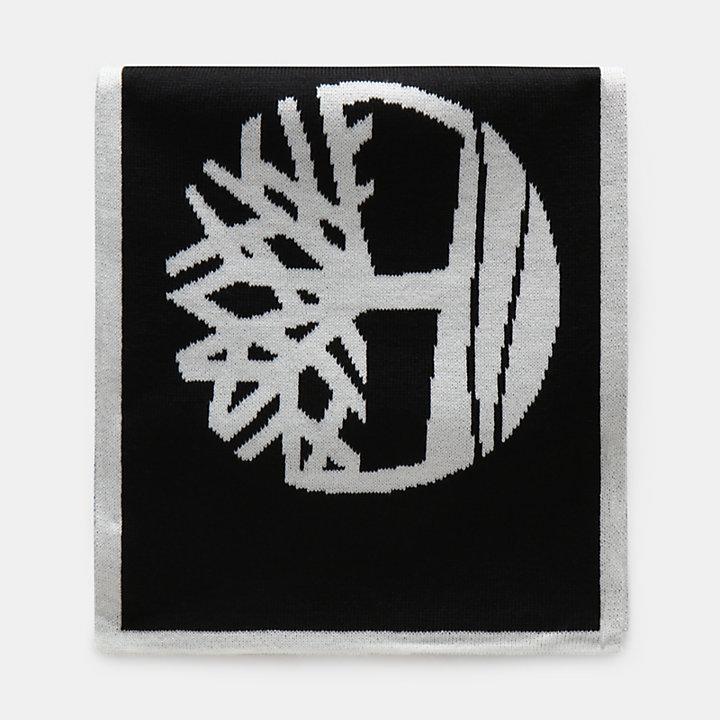 Jacquardschal mit Logo für Herren in Schwarz-