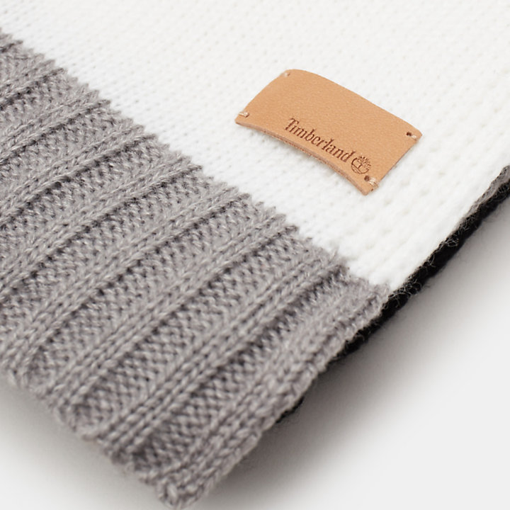 Sjaal met Kleurvlakken voor Dames in zwart-