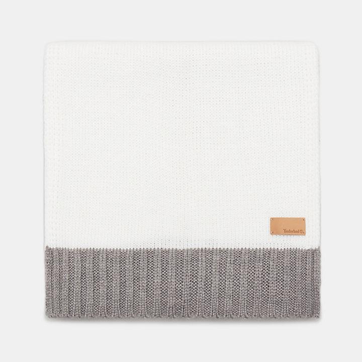 Farbblock-Schal für Damen in Schwarz-
