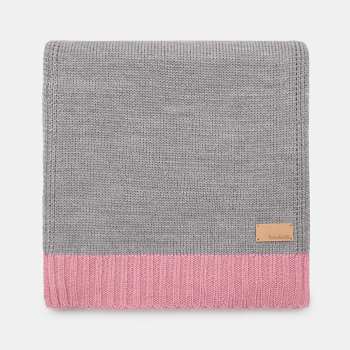Colourblock Scarf for Women in Pink-