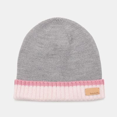 Colour+Block+Cuff+Beanie+for+Women+in+Pink