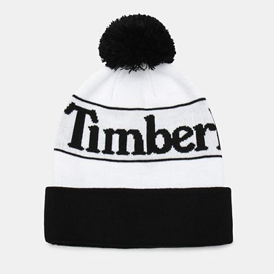 Pom+Beanie+voor+Heren+in+wit