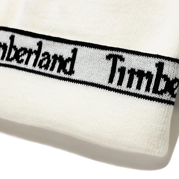 Berretto da Uomo con Logo sul Bordo in bianco-
