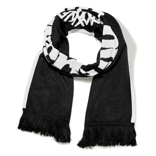 Colour Block Scarf in Black | Timberland
