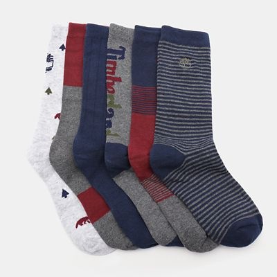Six+Pairs+Socks+Gift+Box+for+Men+in+Grey