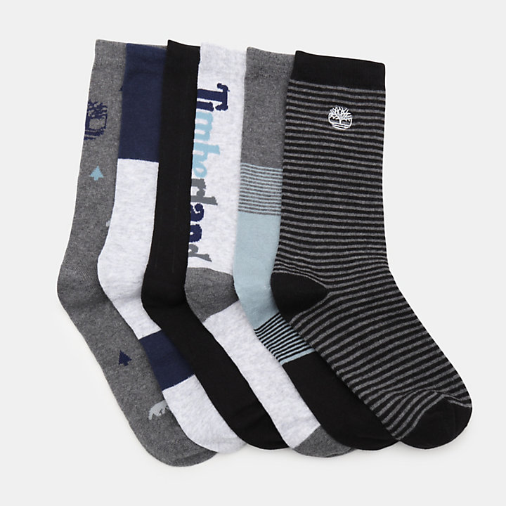 Six Pairs Socks Gift Box for Men in Multicoloured-