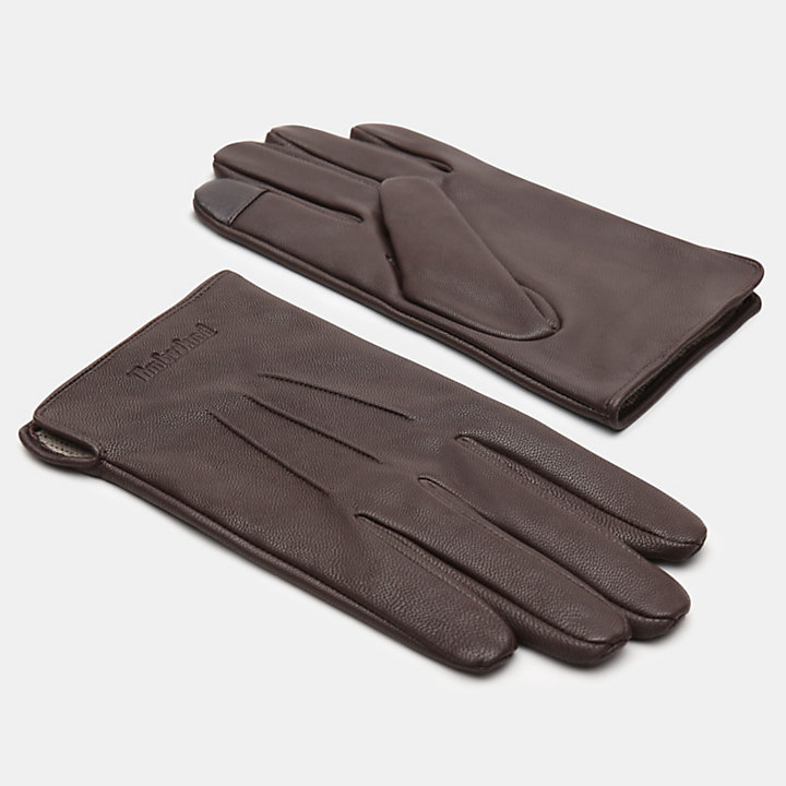 Smart Casual Gloves for Men in Dark Brown-