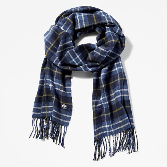Plaid Scarf in Navy | Timberland