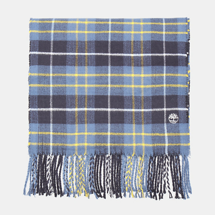 Plaid Scarf in Blue-