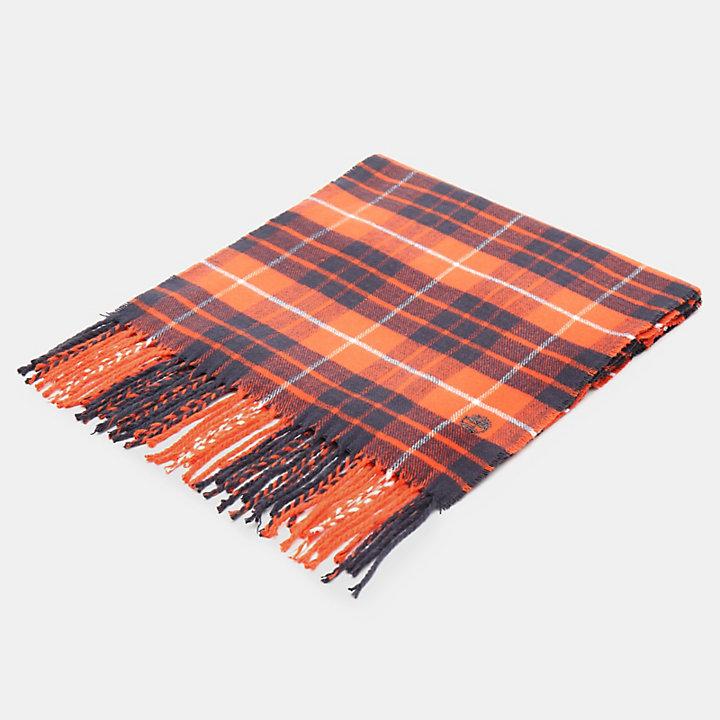 Écharpe à carreaux écossais en orange-
