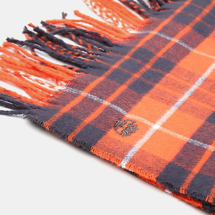 Karierter Schal in Orange-