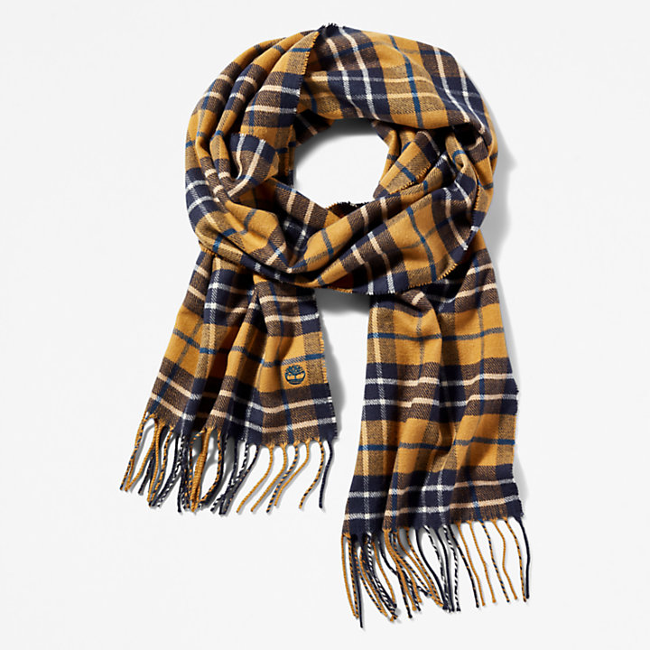 Plaid Scarf in Yellow-