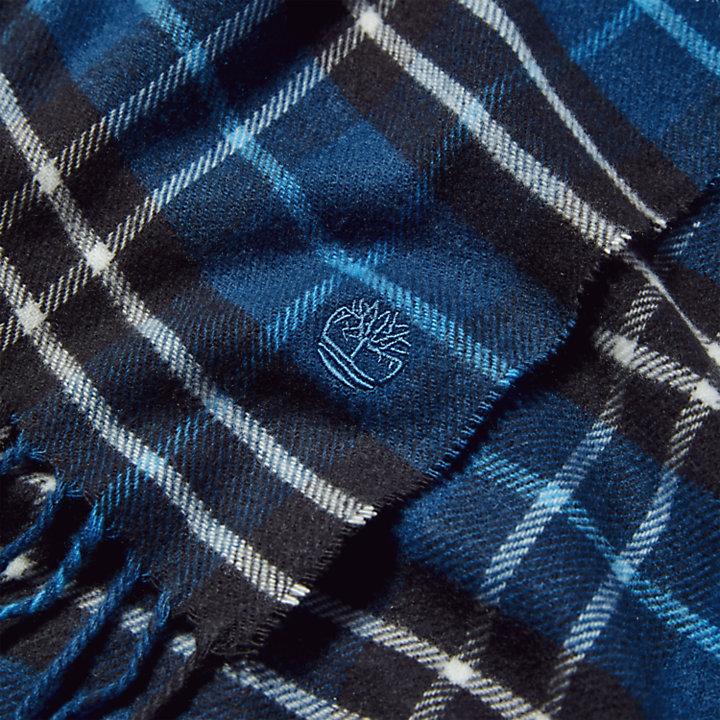 Écharpe à carreaux Cape Neddick pour homme en bleu-