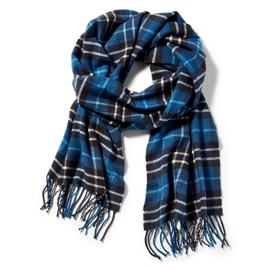 Cape Neddick Checked Scarf for Men in Blue | Timberland