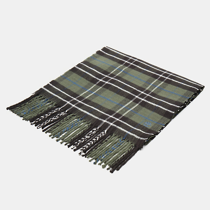 Plaid Scarf in Dark Green-