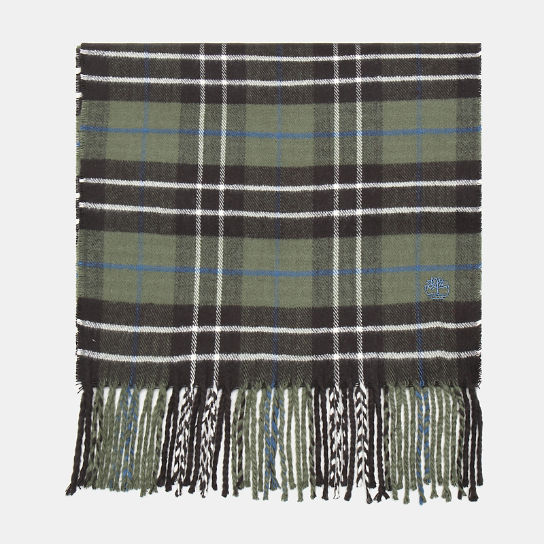 Plaid Scarf in Dark Green | Timberland