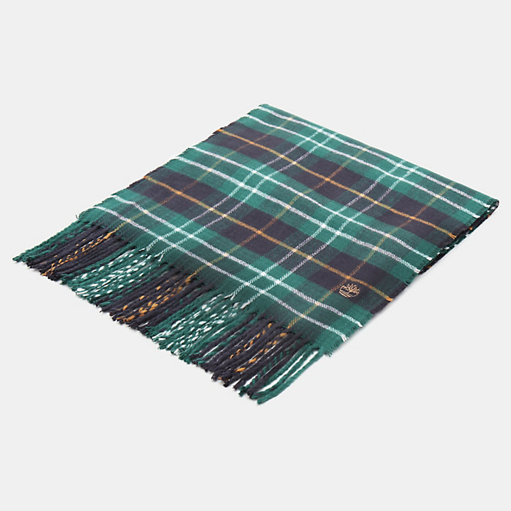 Plaid Scarf in Green-