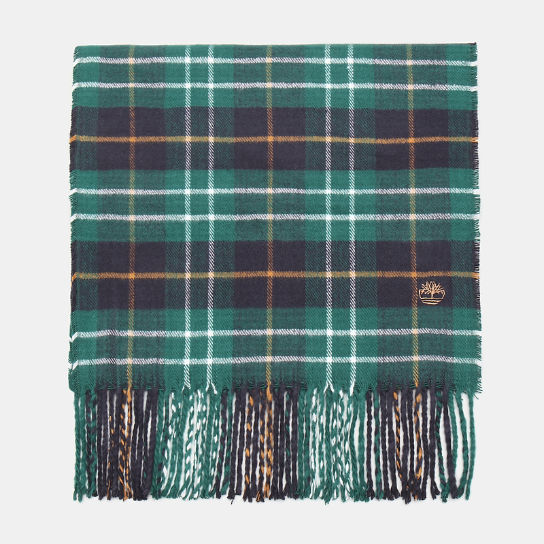 Plaid Scarf in Green | Timberland
