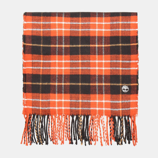 Plaid Scarf in Red | Timberland