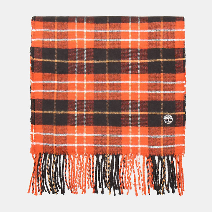 Plaid Scarf in Red-