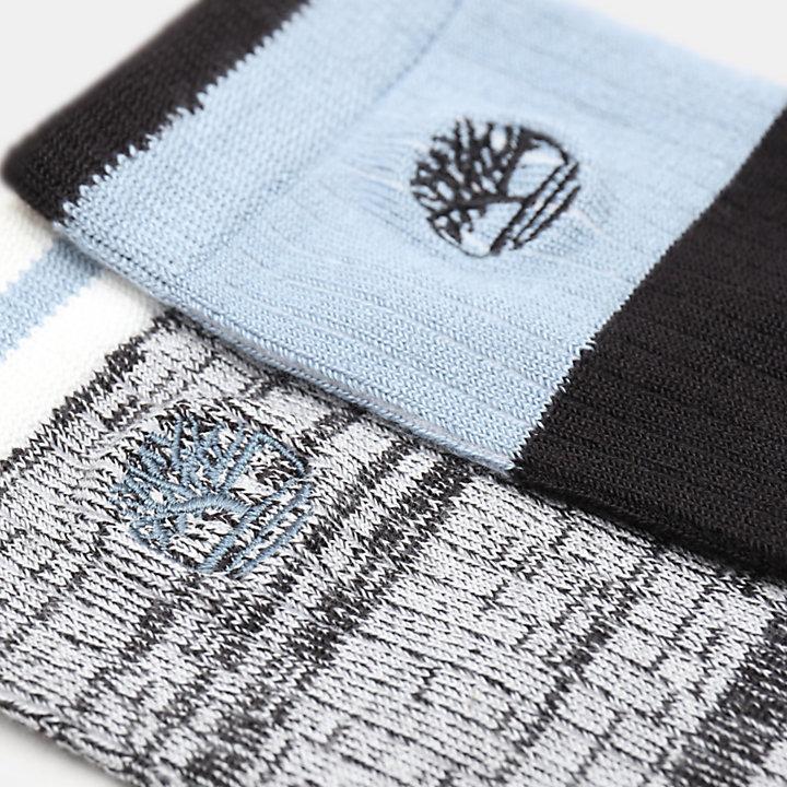 Twee Paar Zachte Crew Sokken voor Dames in zwart-