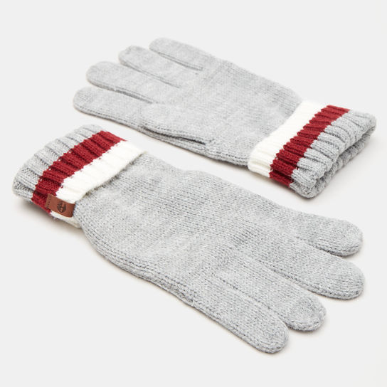 Island Pond Cable Knit Gloves for Men in Grey | Timberland