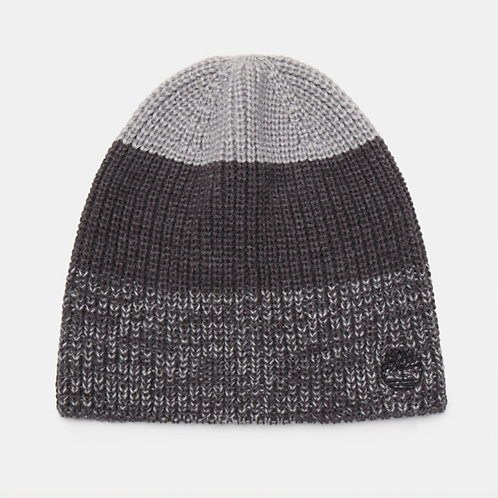 Colour Block Beanie for Men in Grey-