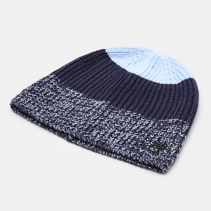 Colour Block Beanie voor Heren in blauw-